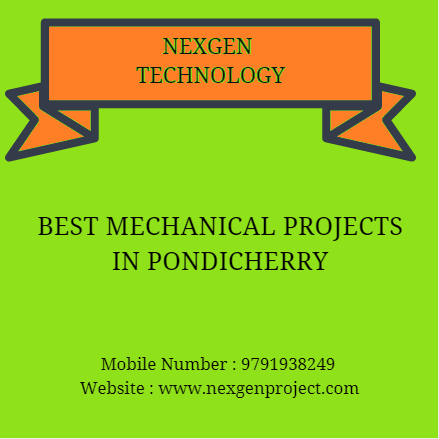 Mech Projects in Pondicherry
